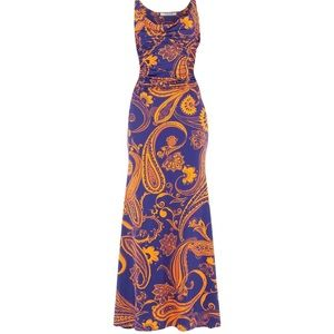 Roberto Cavalli long paisley dress